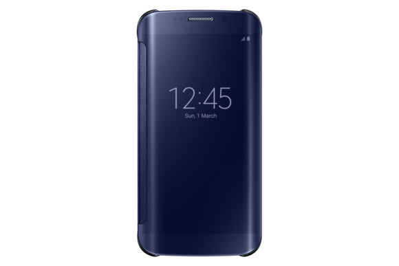 Clear View Cover GS6 Edge Black/Blue - Unwired Solutions Inc