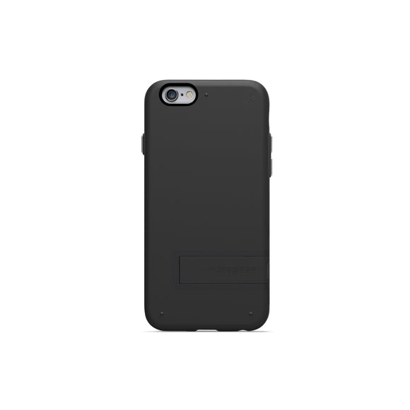 Slim Shell w/Kickstand iPhone 6/6S Black - Unwired Solutions Inc