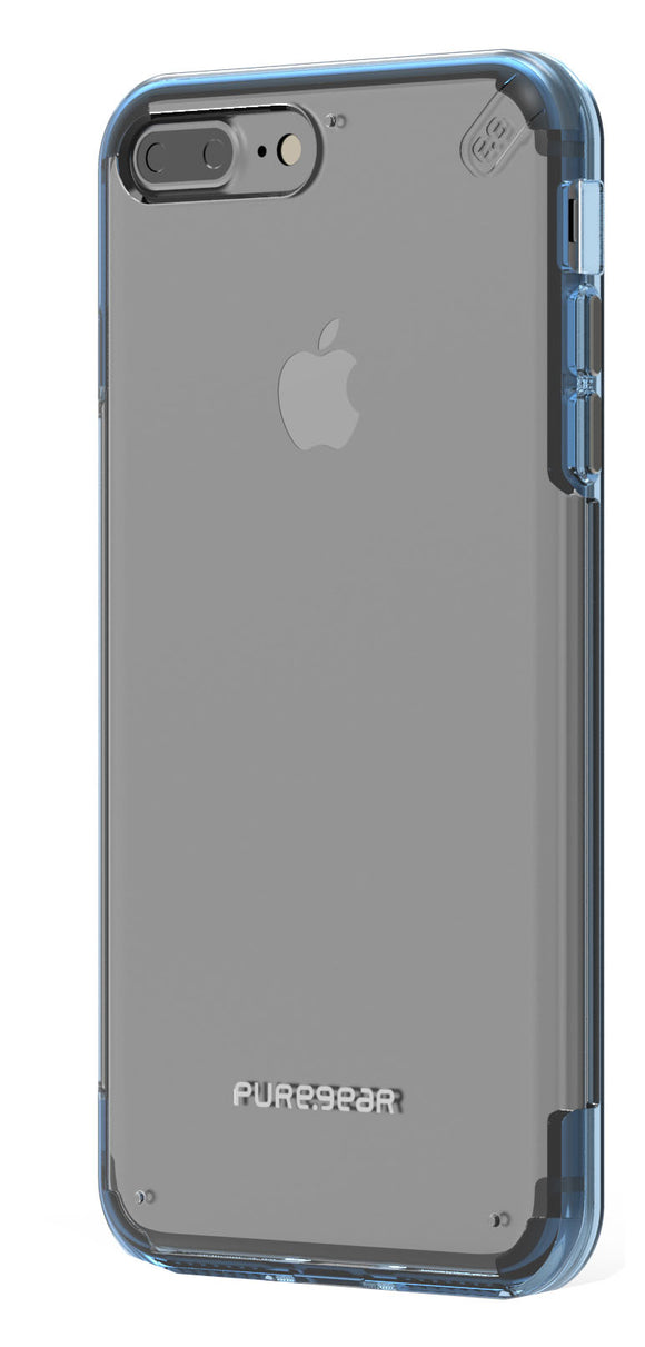 Slim Shell Pro iPhone 8 Plus/7 Plus Clear/Blue - Unwired Solutions Inc