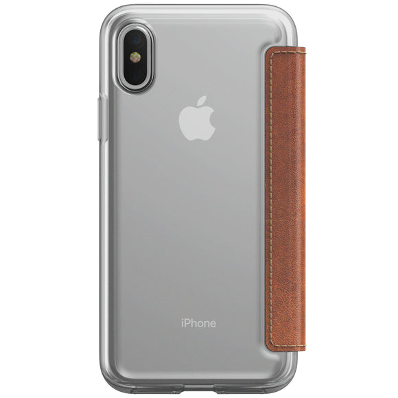 Folio Clear iPhone X Brown - Unwired Solutions Inc