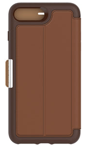 Strada Folio iPhone 7 Plus Burnt Saddle (Brown/Tan) - Unwired
