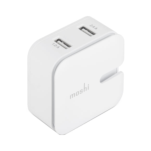 Rewind 2 dual USB charger White - Unwired