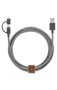 Belt Cable Twin Head (2M) Zebra - Unwired
