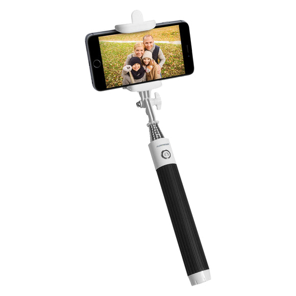 Universal Bluetooth Selfie Stick Black/White