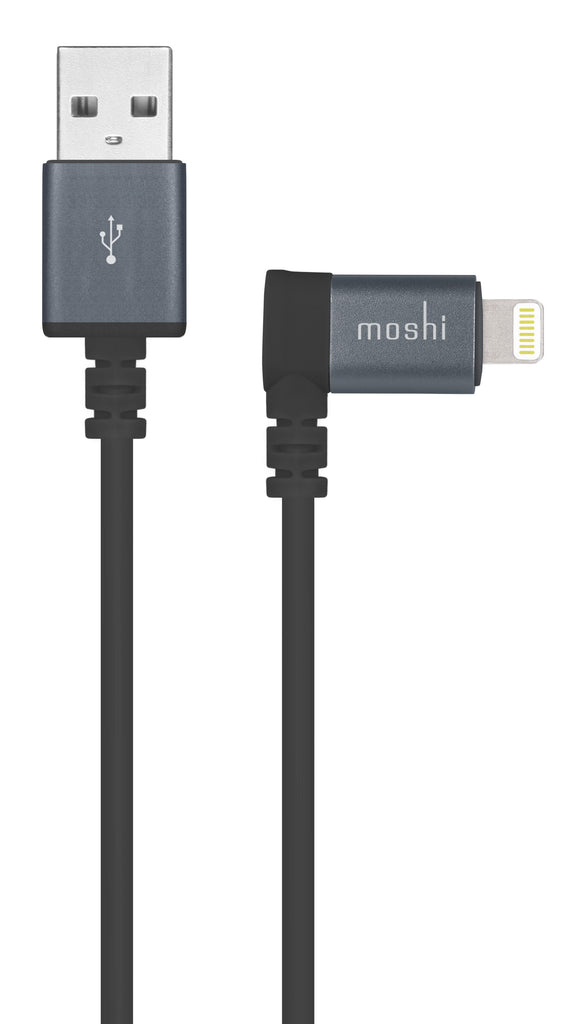 Charge/Sync 90-degree Lightning to USB 5ft Black - Unwired Solutions Inc