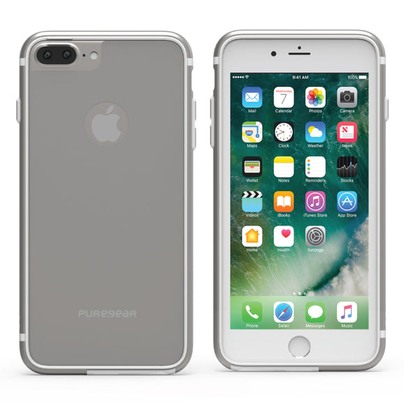 GlassBak 360 iPhone 8+/7+/6S+/6+ Silver - Unwired Solutions Inc