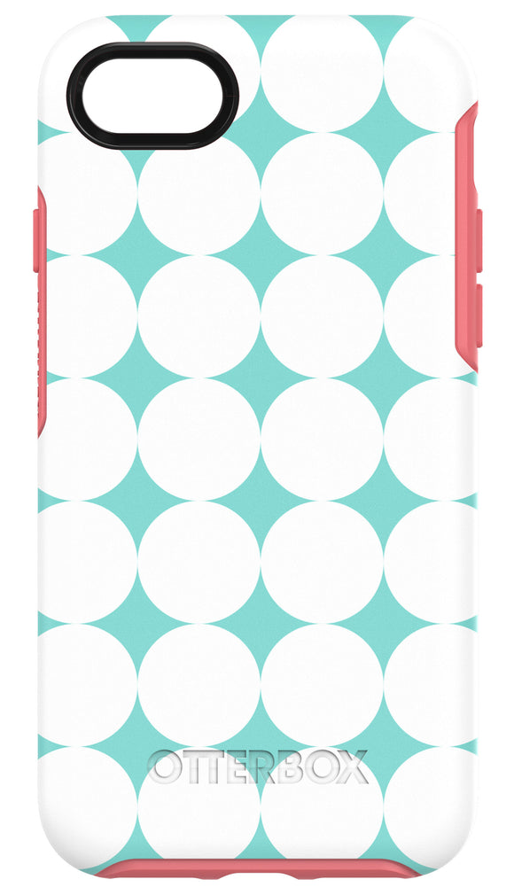 Symmetry iPhone 7 Halftone (Mint/Coral/White) - Unwired Solutions Inc