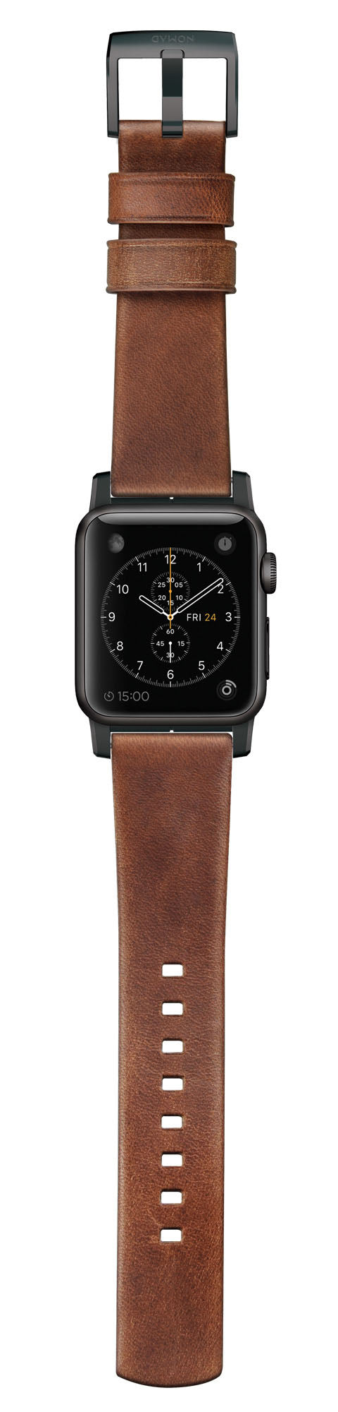Leather Strap (Modern) Apple Watch 42mm Brown - Unwired Solutions Inc