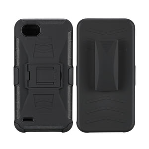 Hardcase and Holster LG Q6 Black - Unwired Solutions Inc
