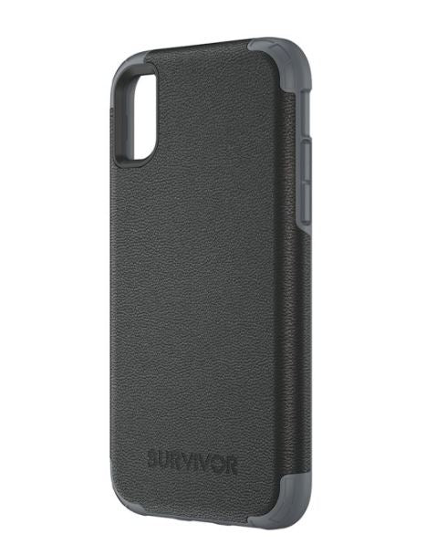 Survivor Prime Leather iPhone X Black - Unwired Solutions Inc