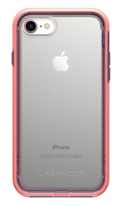 Slam iPhone 8/7 Free Flow (Clear/Coral/Purple) - Unwired