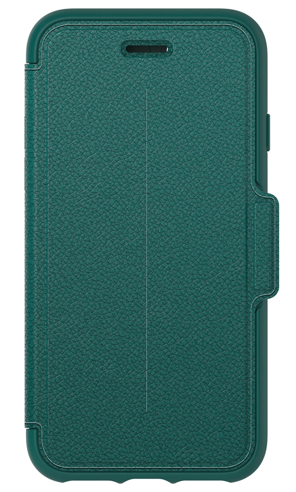 Strada Folio iPhone 7 Pacific Opal Blue (Teal/Tan) - Unwired Solutions Inc