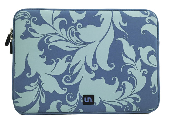 Neoprene Sleeve MacBook 13 inch Teal Swirls - Unwired