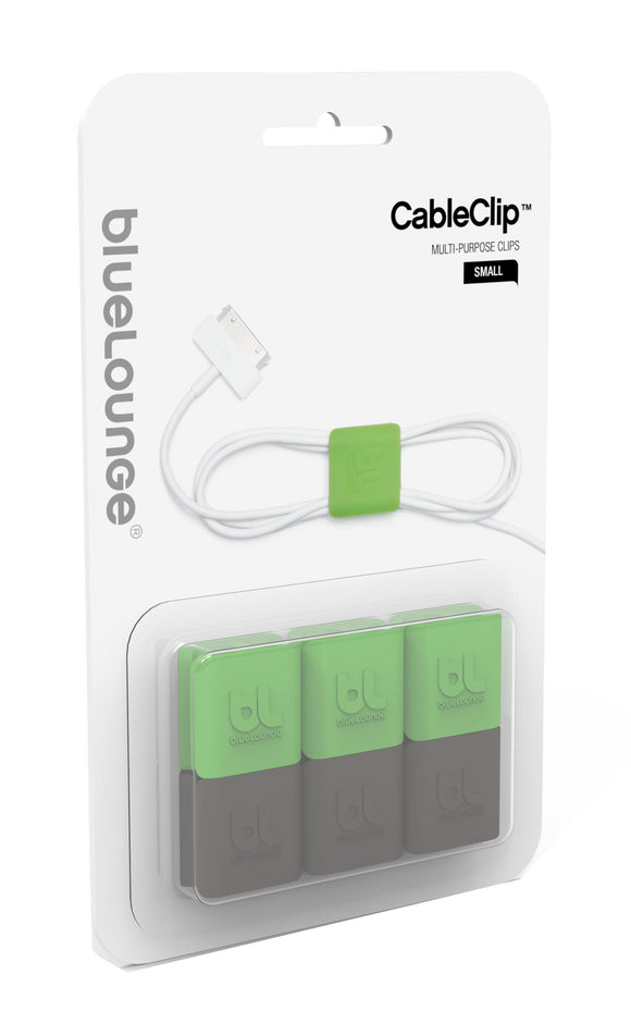 CableClip Small Green/Dark Grey