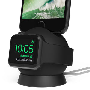OmniBolt Apple Watch&iPhone Charging Stand Black - Unwired Solutions Inc