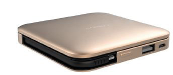 Power Cube 9000mAh w/ Lightning Arm Gold - Unwired