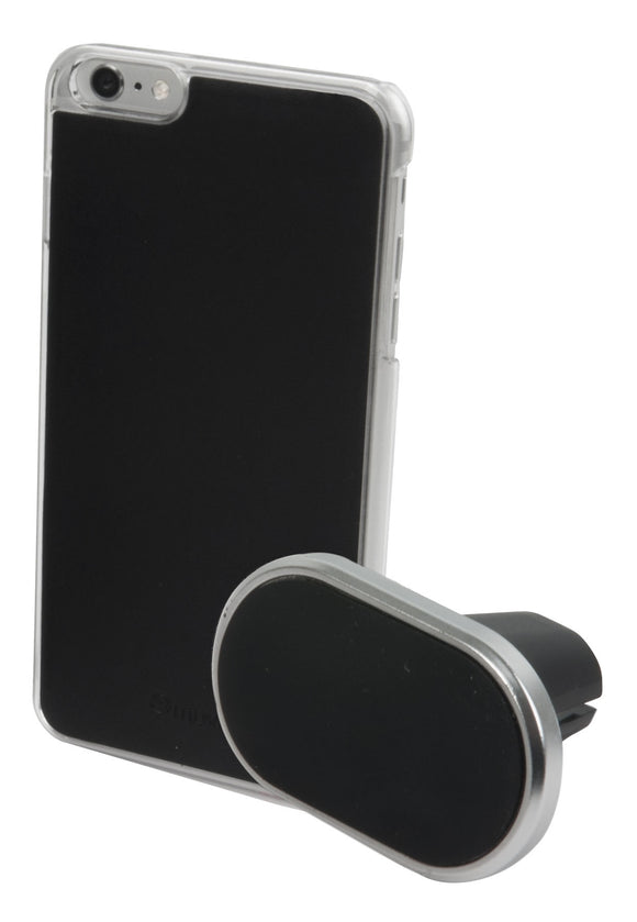 Magnet Case & Car Holder iPhone 42954 Black - Unwired Solutions Inc
