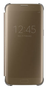 Clear View Cover GS7 Edge Gold - Unwired