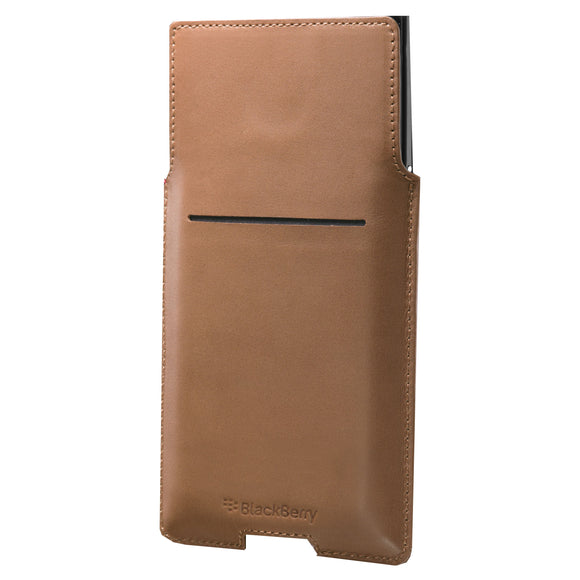 Leather Pocket Priv Brown