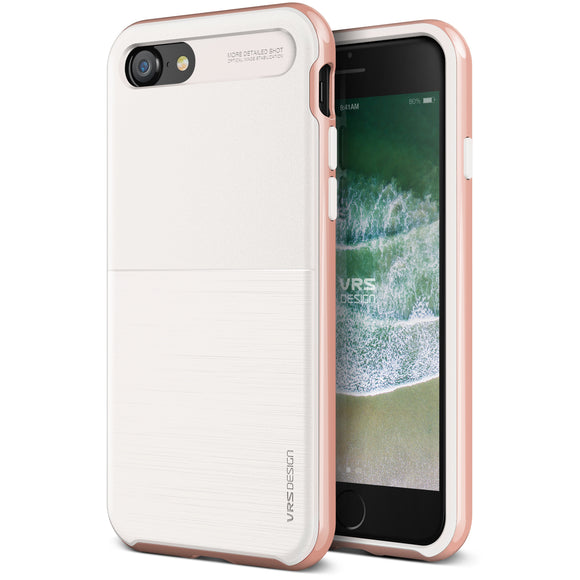 High Pro Shield iPhone 8/7 White/Rose Gold - Unwired