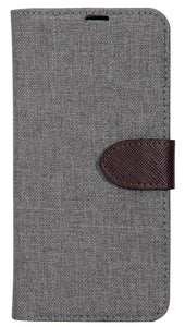 2 in 1 Folio LG Q6 Grey / Brown - Unwired