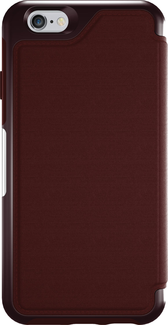 Strada Folio iPhone 6/6S Maroon - Unwired Solutions Inc