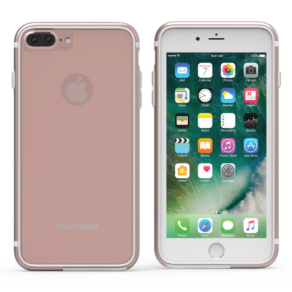 GlassBak 360 iPhone 8+/7+/6S+/6+ Rose - Unwired