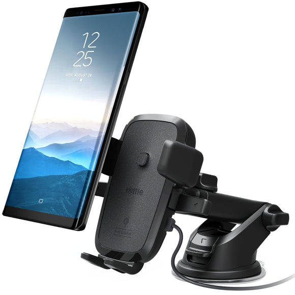 Easy One Touch 4 Wireless Qi Charging Car Mount Bk - Unwired