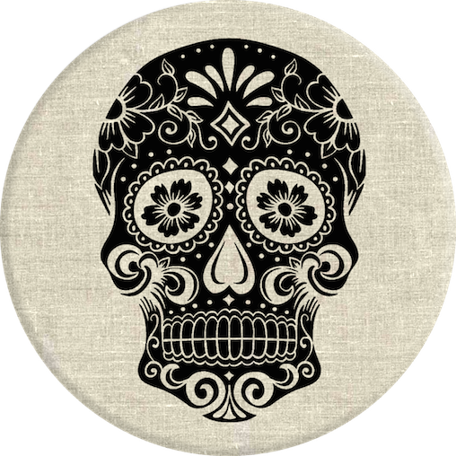 Grip Stand Sugarskull on Linen