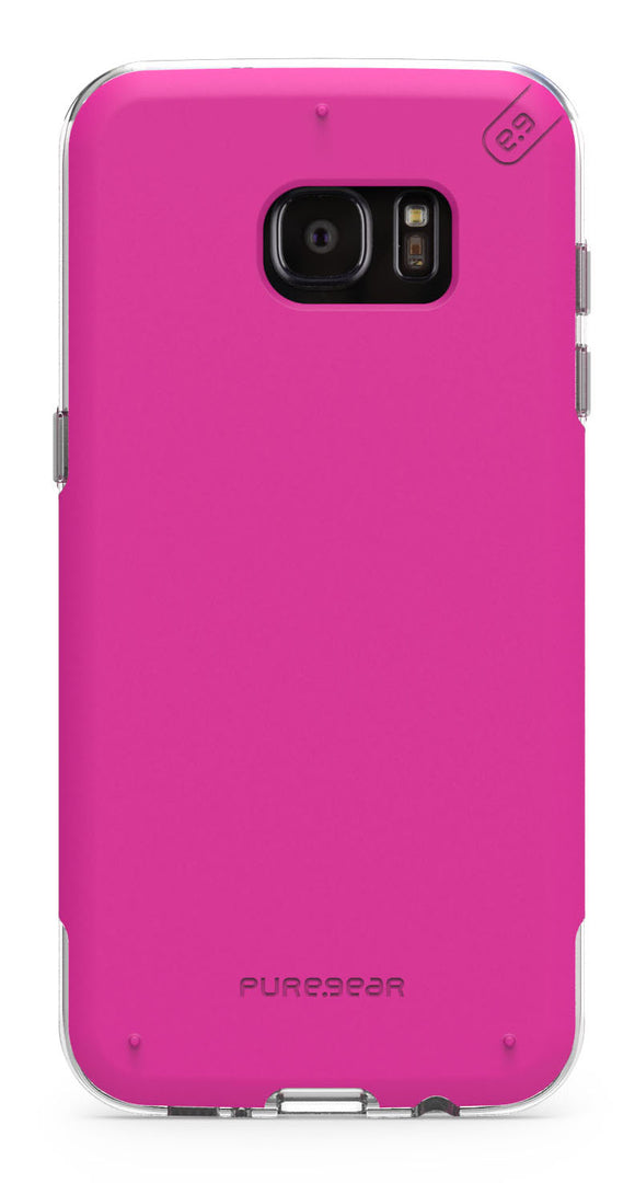 DualTek Pro GS7 Edge Pink/Clear - Unwired