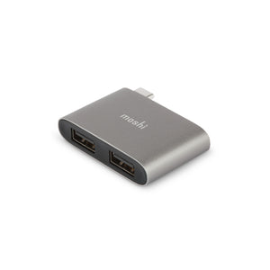 USB-C to Dual USB-A Adapter Dark Gray - Unwired