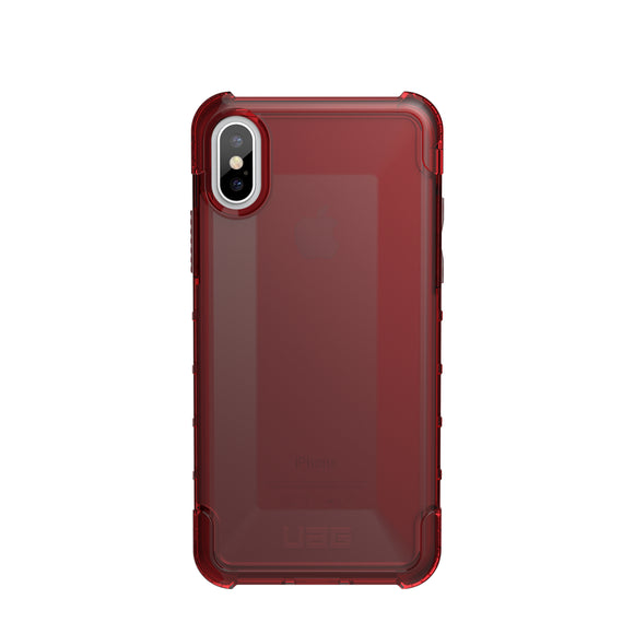 Plyo iPhone X Red/Clear - Unwired Solutions Inc