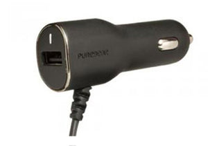Car Charger MicroUSB 3.4A w/ExtraUSB Black
