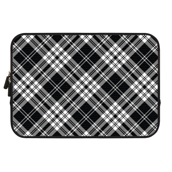 Neoprene Sleeve MacBook 12'' BW Contrast Plaid - Unwired