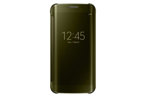 Clear View Cover GS6 Edge Gold - Unwired Solutions Inc