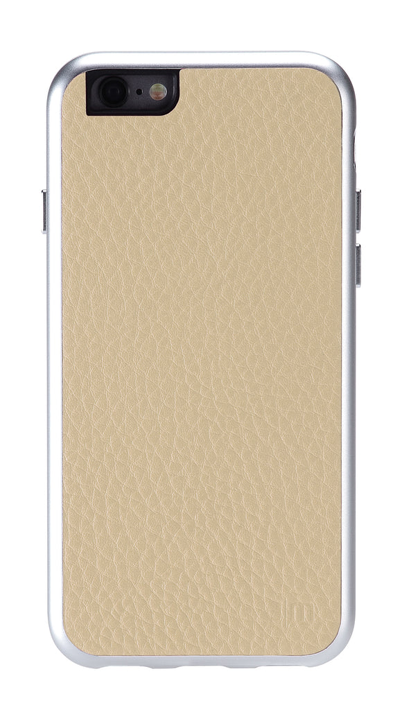 AluFrame Leather iPhone 6/6S Beige - Unwired Solutions Inc