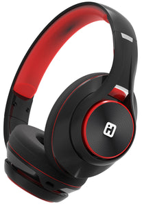 BT Headphones Extra Long Battery+Mic Black/Red