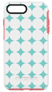 Symmetry iPhone 7 Plus Halftone (Mint/Coral/White) - Unwired Solutions Inc