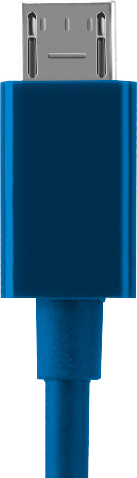Charge/Sync Cable Micro USB 4ft Blue - Unwired Solutions Inc