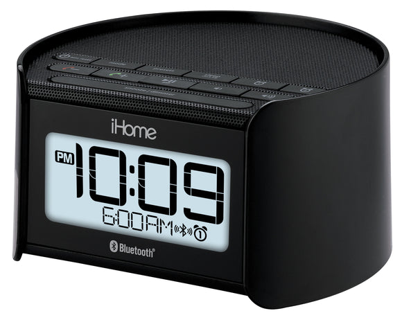 BT Dual Alarm Clock Radio w/ speakerphone Black