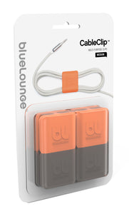 CableClip Medium Orange/Dark Grey