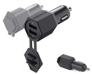 Suvivor Car Charger Dual USB 4.8A Black - Unwired
