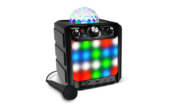 Party Rocker Effects (Black) Bluetooth® Speaker with Light Show and Microphone