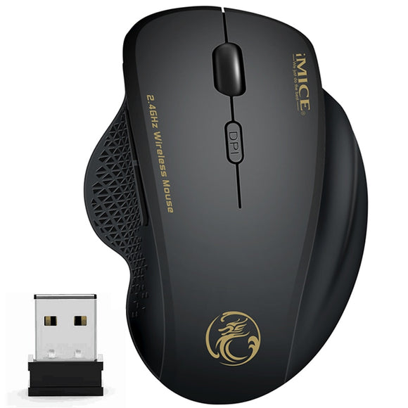 Wireless Mouse Ergonomic Computer Mouse PC Optical Mouse with USB Receiver 6 buttons 2.4Ghz Wireless Mouse 1600 DPI