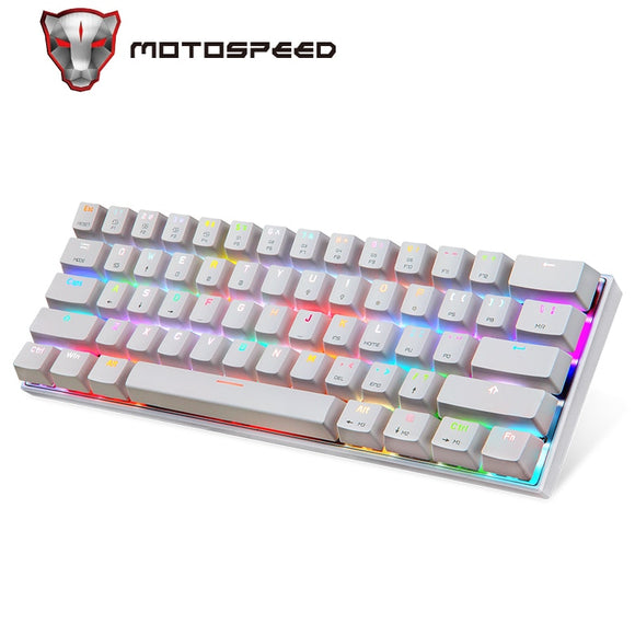 RGB LED Wired/Wireless Bluetooth Mechanical Keyboards for Android, Mac, PC & iOS