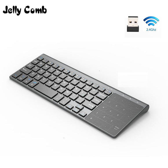 Wireless Keyboard with Number Touchpad Mouse Thin Numeric Keypad for Android Windows Desktop Laptop PC TV Box
