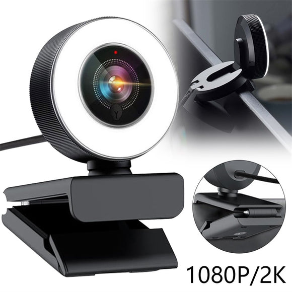 Autofocus Ring Light USB Web Cam for Laptop Desktop Mac