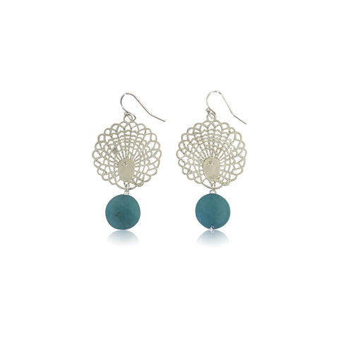 SUNSET STUDS CRYSTAL COBALT