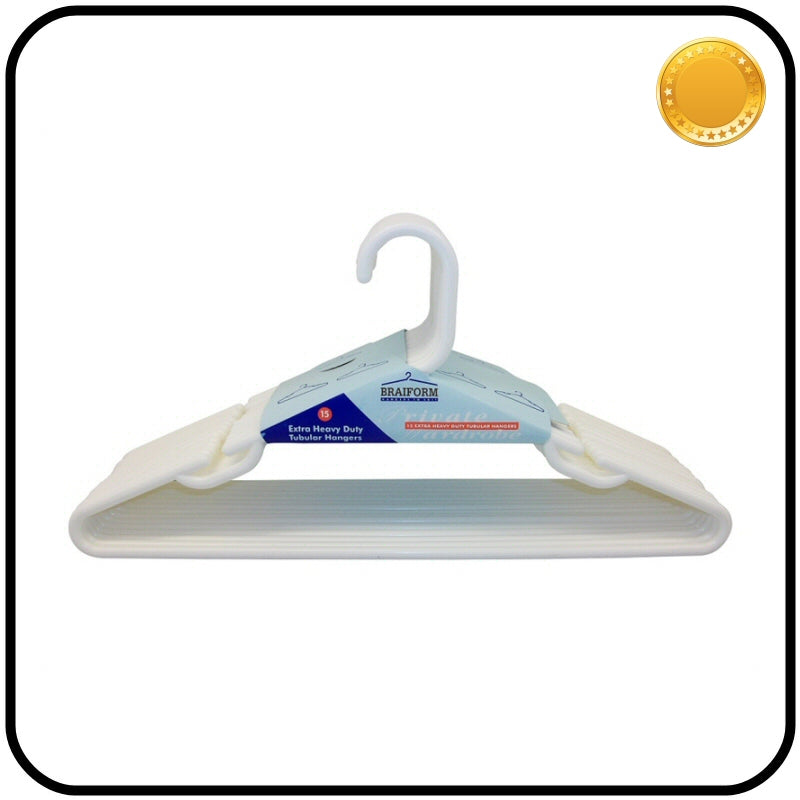 Plastic Clothes Hangers - Heavy Duty - White