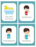 Boy's Daily Routine & Chore Cards